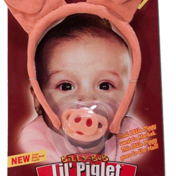 Little Piglet Pacifier / Headband Combo
