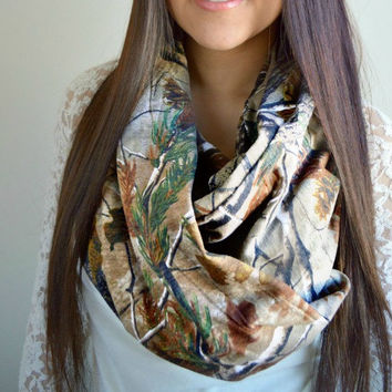 Real Tree Camo Infinity Scarf