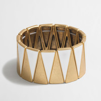 FACTORY TWO-TONE TRIANGLE CUFF BRACELET