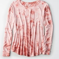 AEO Soft & Sexy Long-Sleeve Favorite T-Shirt, Mauve