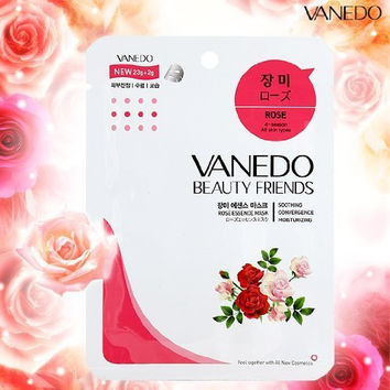 Beauty Friend Sheet Mask from Korea - Rose (12 Sheets)