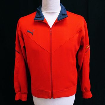 Vintage Puma Red Tracktop Jacket Small