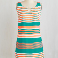 Mid-length Sleeveless Shift When Vibrance Strikes Dress by ModCloth