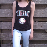 Nirvana Tank by NotThemBasicTops on Etsy