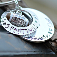 Football Gift Coach Gift football keychain personalized name on keychain teen boy gift football jersey football charm player gift ideas mom