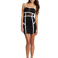 XOXO Juniors Colorblock Dress With Mesh Insets