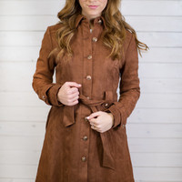 Sasha Suede Button Up Jacket
