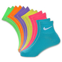 Nike 6-Pack Youth Neon Quarter Sock