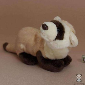 Black Footed Ferret Stuffed Animal Plush Toy 9""