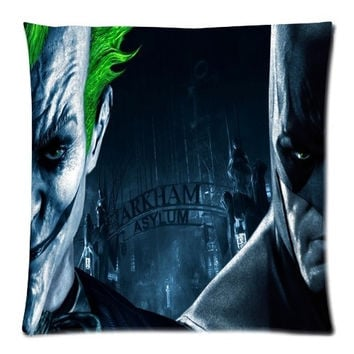 Batman Joker-Harley Quinn's Best Love Two Sides Printed Size:18X18 Inch(50% cotton, 50% polyester)Zippered Soft Cotton Pillow Covers Decorative Cushion Covers = 1927789124