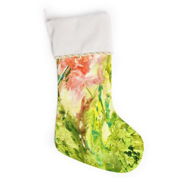 """Rosie Brown """"Green Thumb"""" Paint Lime Christmas Stocking"""