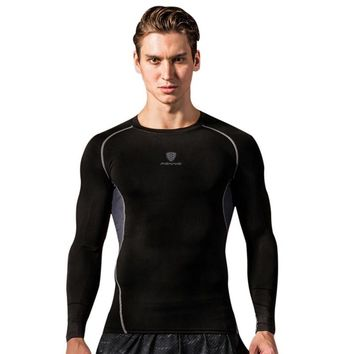 Men Fitness Compression Dry-fast Shirt Bodybuilding Long Sleeve Men T Shirt  Camouflage Running Sports Shirt Tops