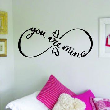 Infinity You Are Mine Wall Decal Sticker Bedroom Room Art Vinyl Home Decor Teen Kids Infinite Nursery Tattoo Love