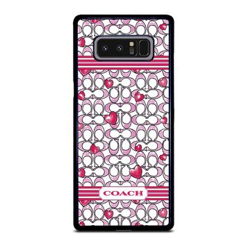 COACH NEW YORK LOVE Samsung Galaxy Note 8 Case Cover