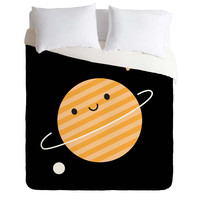 Marceline Smith Happy Planet In Space Duvet Cover