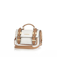 River Island Womens White and camel mini satchel bag