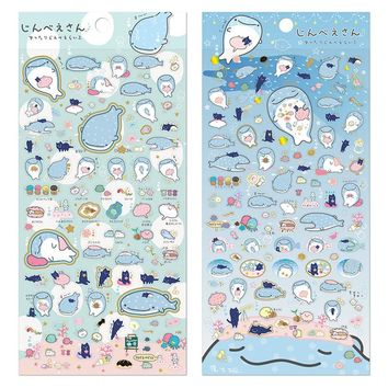 DIY Colorful Dinosaur whale 3D kawaii Stickers Diary Planner Journal Note Diary Paper Scrapbooking Albums PhotoTag