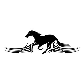 Vinyl Car Stickers Tribal Horse Mustang Stallion