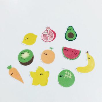 Veggies & Fruities Sticker Pack (10 in one pack)