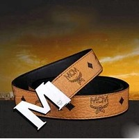 MCM Woman Fashion Smooth Buckle Belt Leather Belt H-A-GFPDPF Brown I
