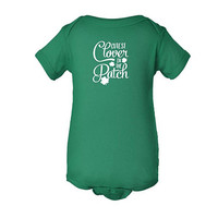 St. Patrick's Day Baby Outfit, Cutest clover in the patch, St. Patricks Day Baby Bodysuit, Irish Shirt, 4 leaf clover