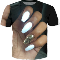 Nails On A T-Shirt