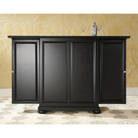 Alexandria Expandable Bar Cabinet in Black Finish by Crosley Furniture