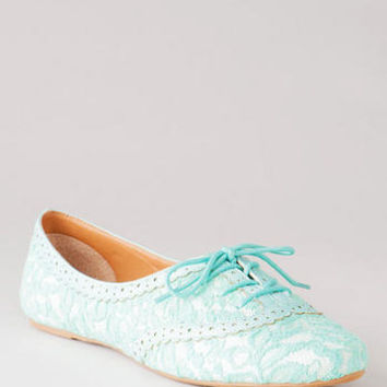 APPLE TREE LACE OXFORD FLAT
