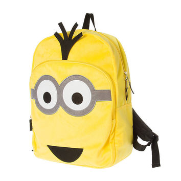 Despicable Me Minions Yellow Plush Backpack NWT