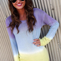 Pastel Ombre Sweater | The Rage