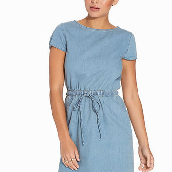 Cap Sleeve Denim Dress, Miss Selfridge