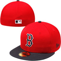 New Era Boston Red Sox Cooperstown Collection Color Pop 59FIFTY Fitted Hat - Red/Navy Blue