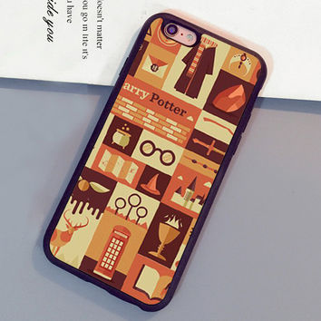 Harry Potter Pattern Mobile Phone Cases Accessories For iPhone 6 6S Plus 7 7 Plus 5 5S 5C SE 4S Soft Rubber Skin Cover Shell OEM