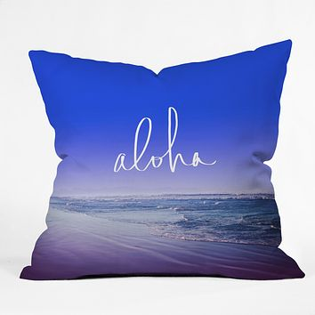 Leah Flores Aloha Beach Throw Pillow