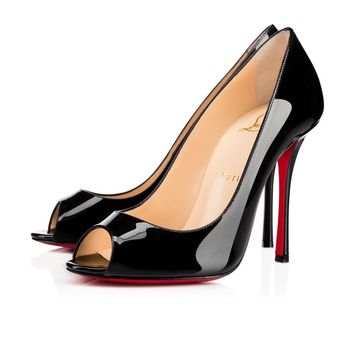 Christian Louboutin Cl Yootish Black Patent Leather 16w Pumps 3160617bk01 -
