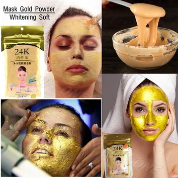 24K Active Gold Whitening Soft Mask Gold Powder Face Anti aging Firming Skin High Moisture Molecular Homely Spa Facial Mask 50g