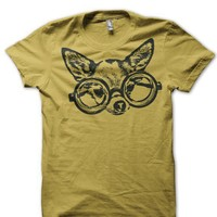 Hipster Chihuahua with Glasses Urbarian Organic by urbarian