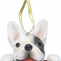 "French Bulldog Ornament ""Santa's Pals"" With Personalized Name Plate A Great Gift For French Bulldog Lovers"