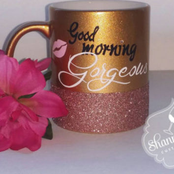 Good Morning Gorgeous Coffee Cup, Mug,  Gorgeous, Funny, Humor,  Bridesmaid Gift,  Birthday,  Bachelorette, Wedding,  Pretty, Gift for Her