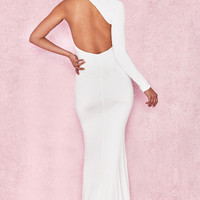 Clothing : Max Dresses : 'Merveille' White Wrap Sleeve Maxi Dress
