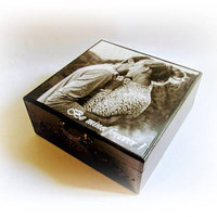 Custom Photo Box Personalized Photo Keepsake Box Memory Box Anniversary Gift Wedding Gift Picture Box Family Gift Box Personalized Gift