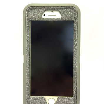 iPhone 6 (4.7 inch) OtterBox Defender Series Case Glitter Cute Sparkly Bling Defender Series Custom Case  gray / graphite