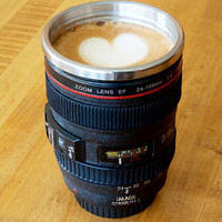 Unique Camera Lens Coffee Mug +Free Gift - Random Necklace