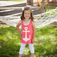 Bow Back Anchor Tank - Coral
