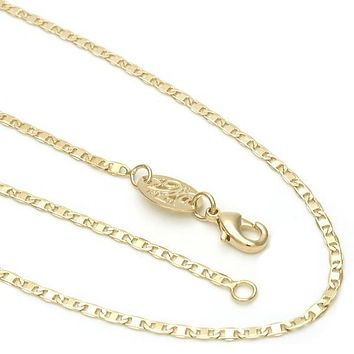 Gold Layered 04.32.0002.22 Basic Necklace, Mariner Design, Polished Finish, Golden Tone