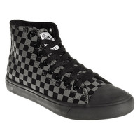 Bleeding Heart Checker High Top Boots (Black/Grey)