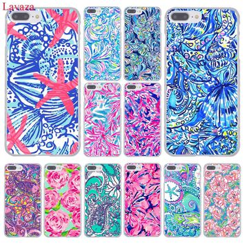 Lavaza Lilly Pulitzer Summer flower Pink Hard Phone Case for Apple iPhone 8 7 6 6S Plus X 10 5 5S SE 5C 4 4S