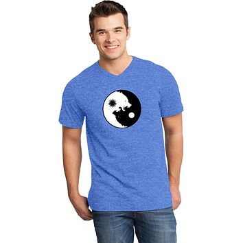 Yoga Clothing For You Yin Yang Wolves Important V-neck Yoga Tee Shirt