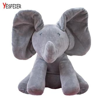 Peek a boo Elephant Stuffed Animals Plush Elephant Doll 33*28cm New Style Toys Plush Toy Baby Doll For Baby Gift Or Christma