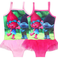 Kids Summer Bikini Children Baby Swimming Wear Girls One Piece